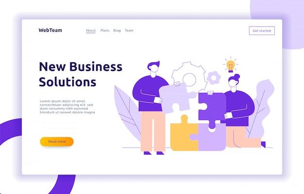 Concetto di design business e idea di vettore Vettore Premium