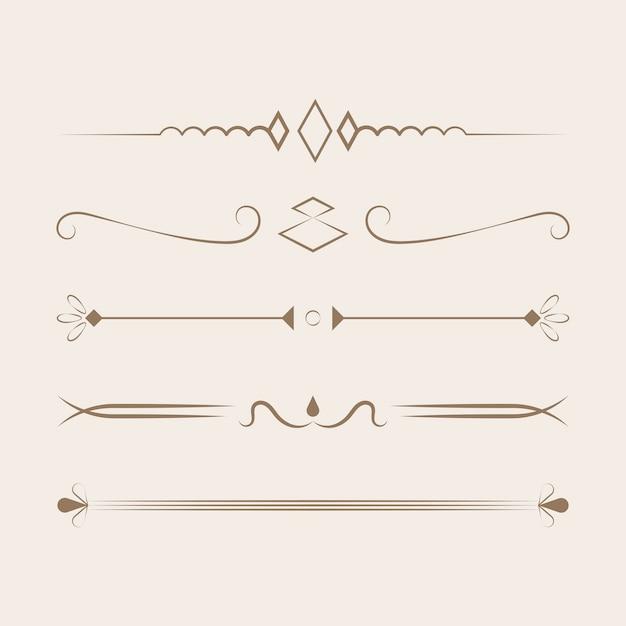 Concetto di design collezione di ornamenti Vettore gratuito