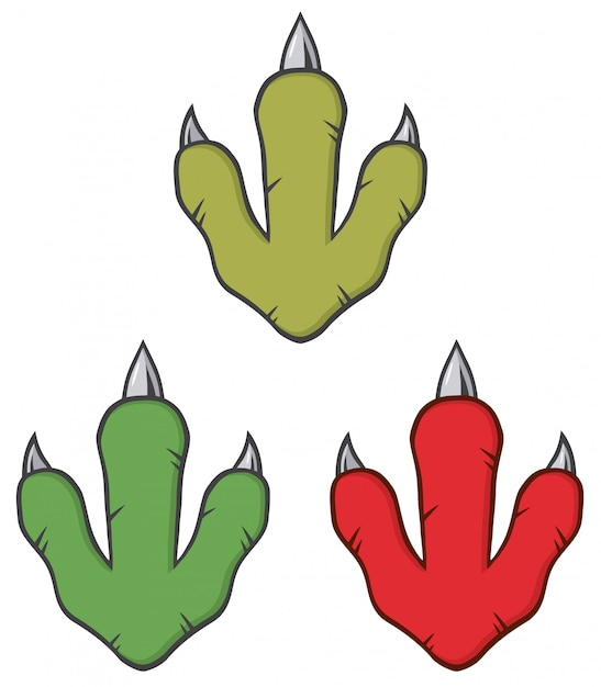 Concetto di design di impronta di dinosauro. Vettore Premium