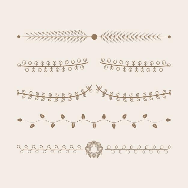 Concetto di design di vettore di raccolta di ornamenti Vettore gratuito