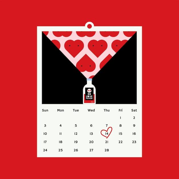 Concetto di design di vettore di san valentino Vettore gratuito