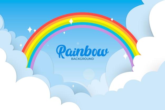 Concetto di design piatto arcobaleno Vettore gratuito