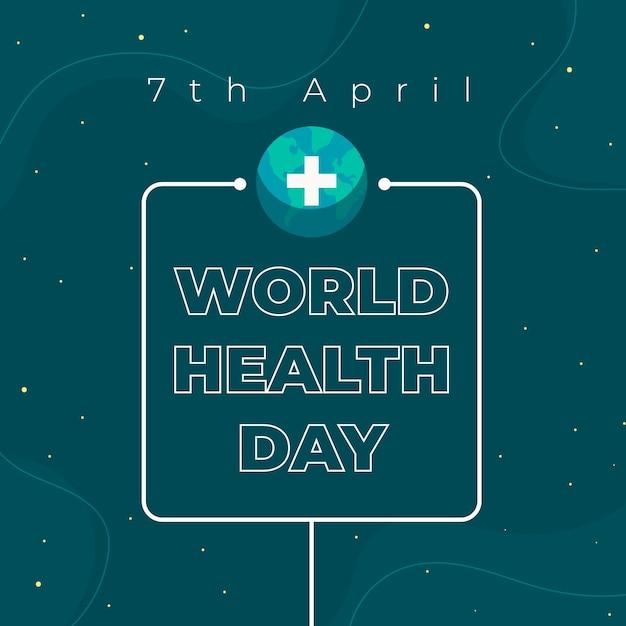 Concetto di design piatto giornata mondiale della salute Vettore gratuito