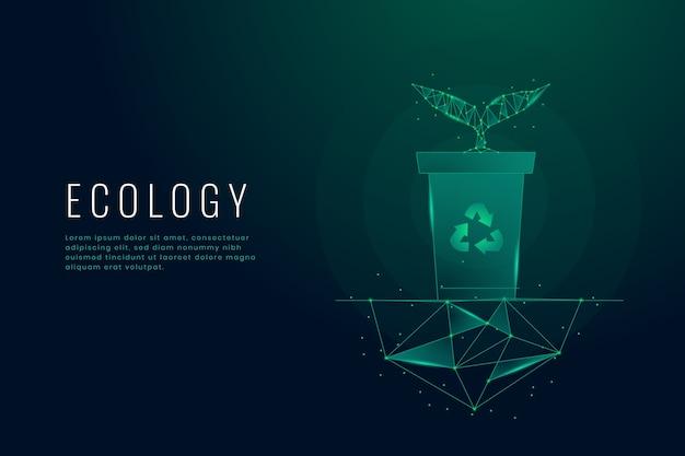 Concetto di ecologia tecnologica Vettore gratuito