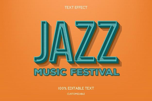 Concetto di effetto testo jazz Vettore gratuito