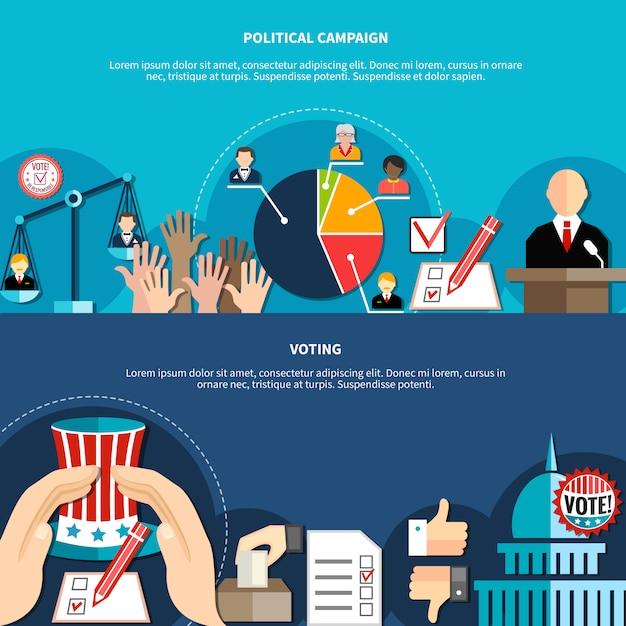 Concetto di elezioni governative Vettore gratuito