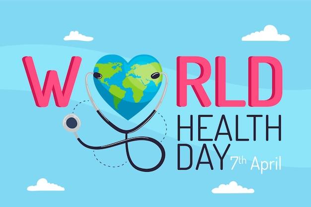 Concetto di evento di giornata mondiale della salute piatta Vettore gratuito