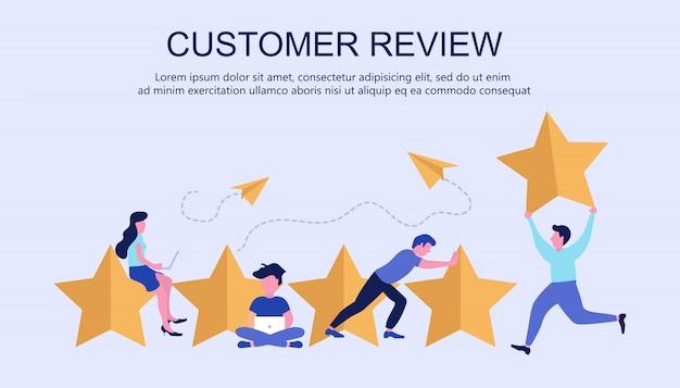 Concetto di feedback, messaggi di testimonianze e notifiche Vettore Premium
