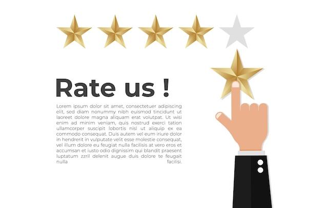 Concetto di feedback positivo Vettore Premium