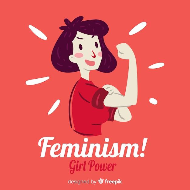 Concetto di femminismo Vettore gratuito