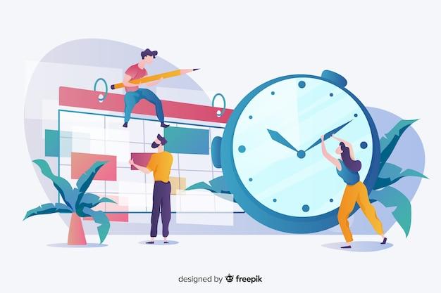 Concetto di gestione del tempo per la pagina di destinazione Vettore gratuito