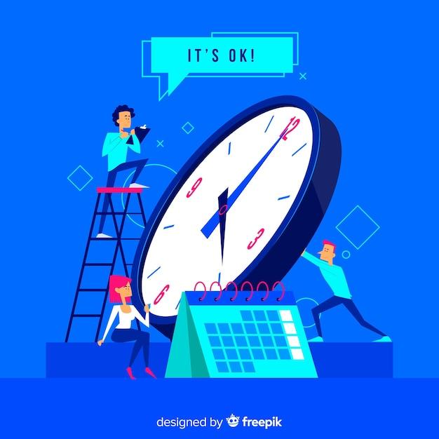 Concetto di gestione del tempo per landing page Vettore gratuito