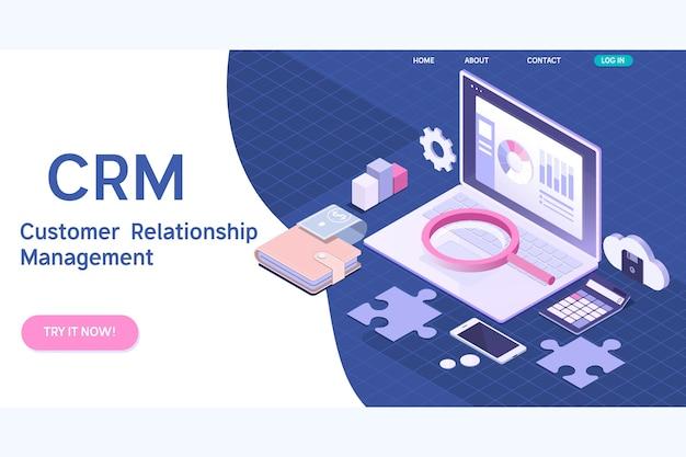 Concetto di gestione delle relazioni con i clienti Vettore Premium