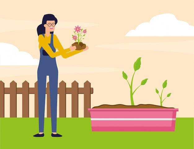 Concetto di giardinaggio Vettore gratuito