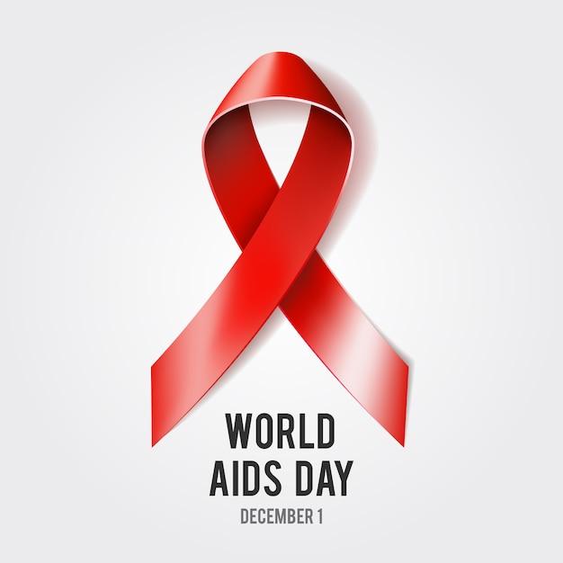 Concetto di giornata mondiale dell'aids Vettore Premium