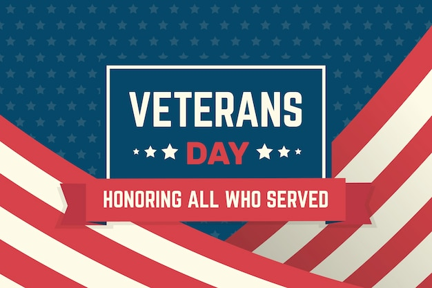 Concetto di giorno dei veterani nella progettazione piana Vettore gratuito