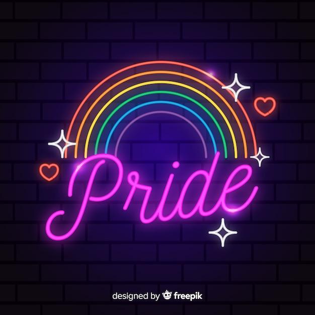 Concetto di giorno di orgoglio con arcobaleno Vettore gratuito