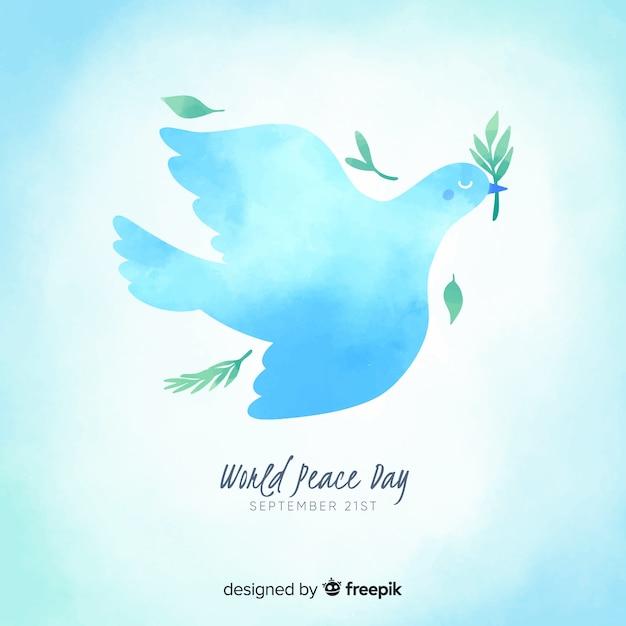 Concetto di giorno di pace con il disegno dell'acquerello Vettore gratuito