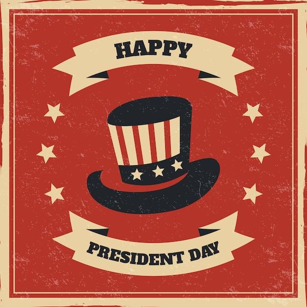 Concetto di giorno di presidenti con design vintage Vettore gratuito