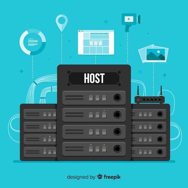Concetto di hosting creativo Vettore gratuito