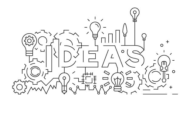 Concetto di idee Vettore Premium
