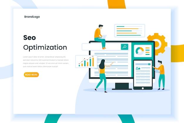 Concetto di illustrazione web seo Vettore Premium