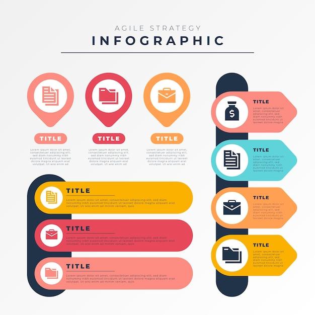 Concetto di infografica agile Vettore gratuito