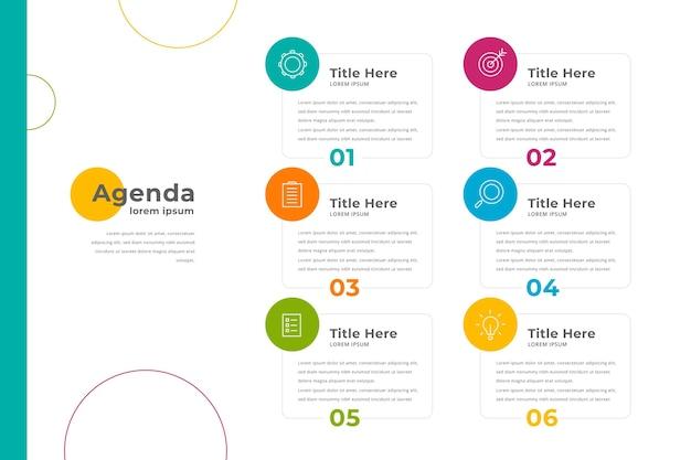 Concetto di infografica grafico agenda Vettore gratuito