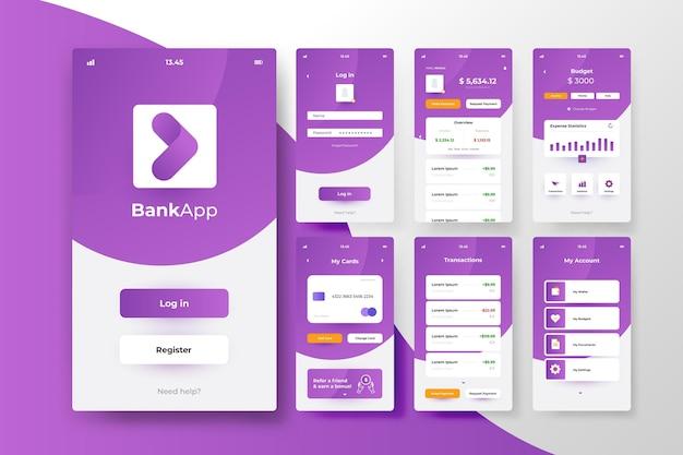 Concetto di interfaccia app bancaria Vettore gratuito