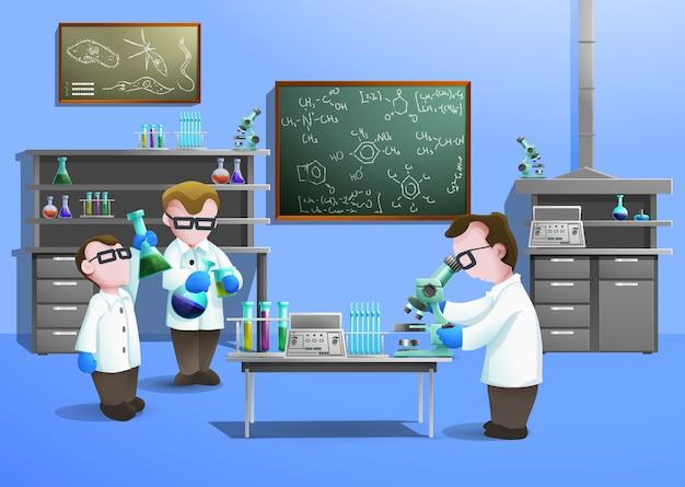Concetto di laboratorio chimico Vettore gratuito