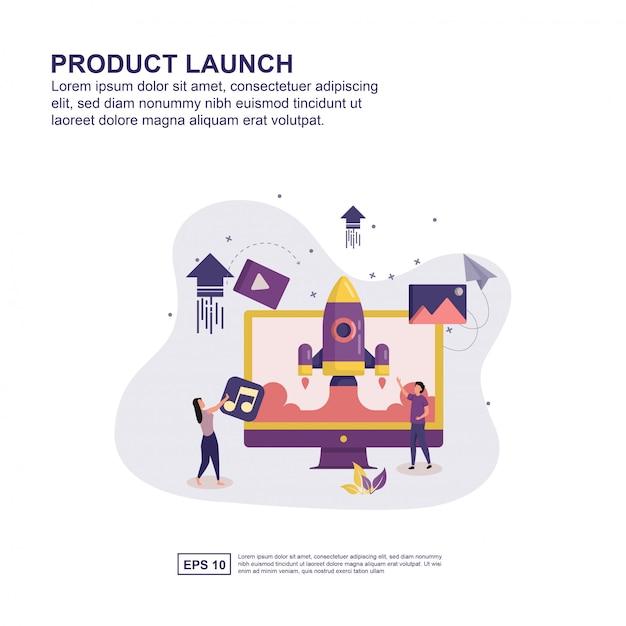 Concetto di lancio del prodotto Vettore Premium