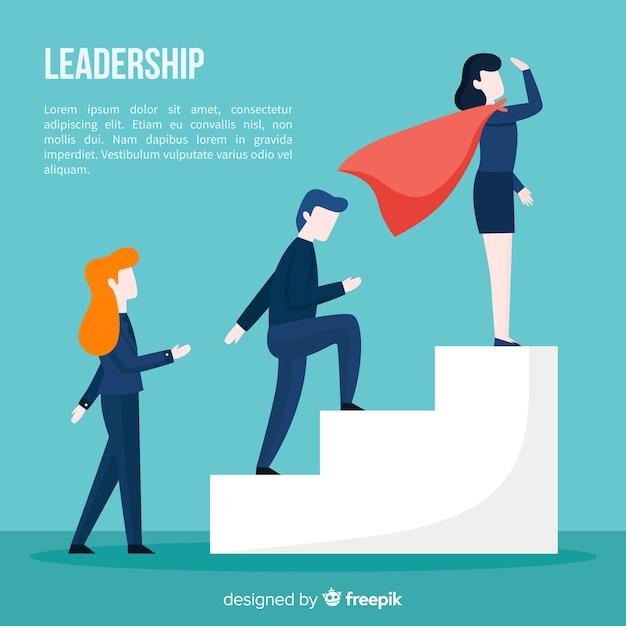 Concetto di leadership in stile piano Vettore gratuito