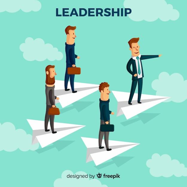 Concetto di leadership piatta Vettore gratuito