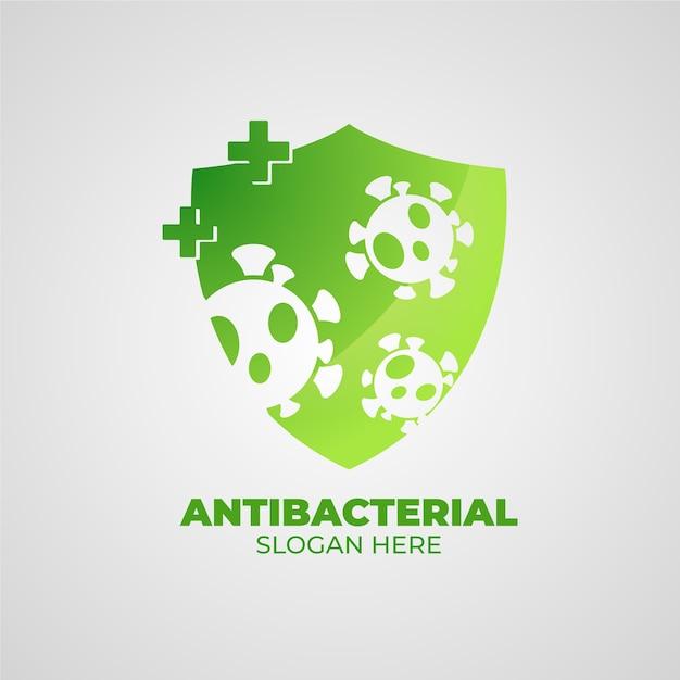 Concetto di logo antibatterico Vettore gratuito