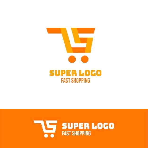 Concetto di logo creativo supermercato Vettore gratuito