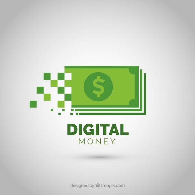 Concetto di logo di denaro moderno Vettore gratuito