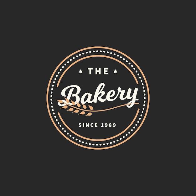 Concetto di logo di panetteria retrò Vettore gratuito
