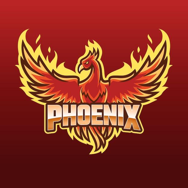 Concetto di logo di phoenix Vettore gratuito