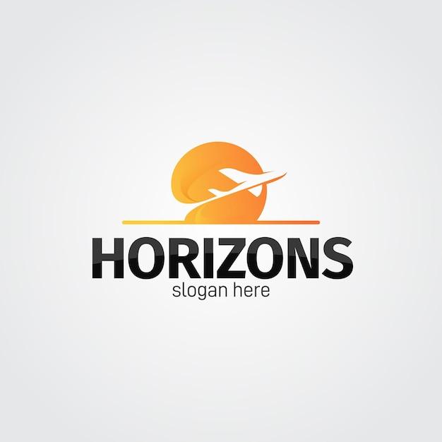 Concetto di logo di viaggio dettagliato Vettore gratuito