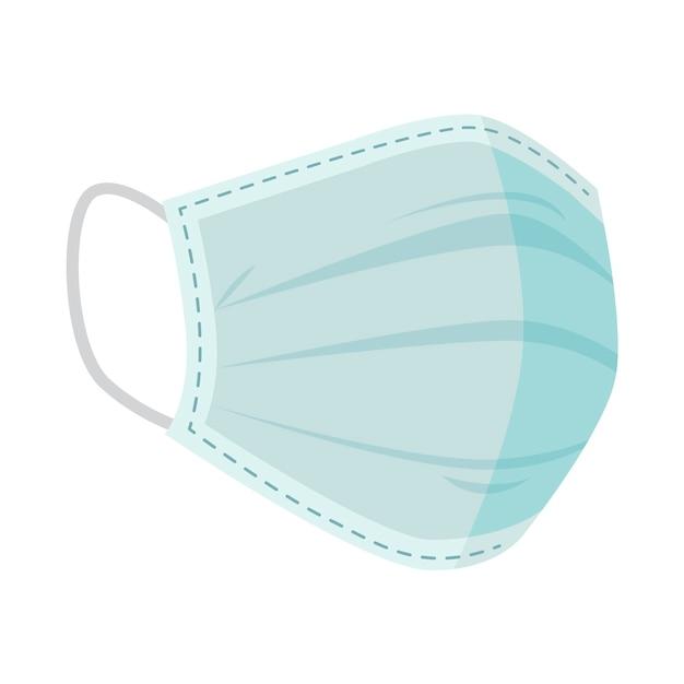 Concetto di maschera medica piatta Vettore gratuito