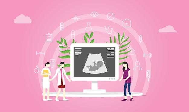Concetto di maternità o gravidanza Vettore Premium