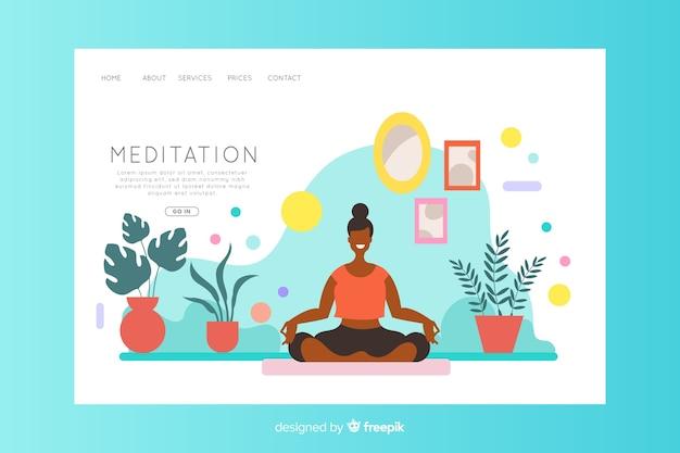 Concetto di meditazione per landing page Vettore gratuito