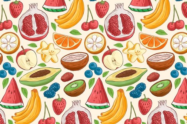 Concetto di modello di frutta Vettore gratuito