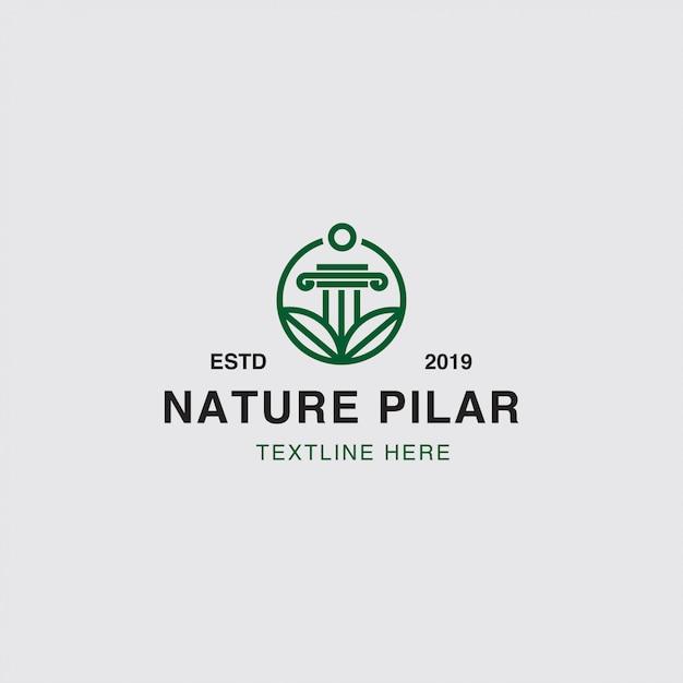 Concetto di natura e foglia logo Vettore Premium