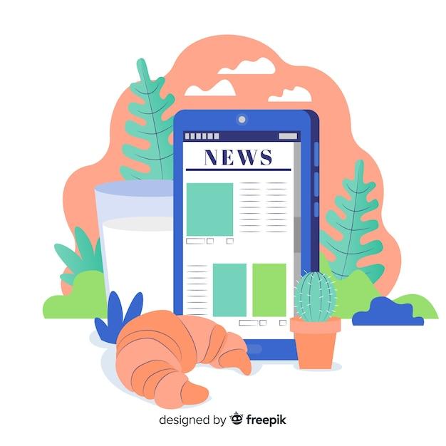 Concetto di notizie per landing page Vettore gratuito