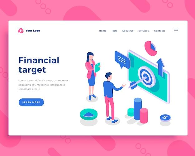 Concetto di obiettivo finanziario Vettore Premium