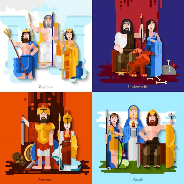 Concetto di olimpiade dei cartoni animati Vettore gratuito