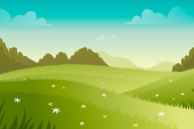 Concetto di paesaggio di primavera gradiente Vettore gratuito