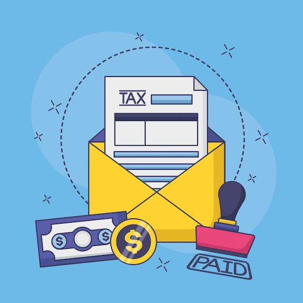 Concetto di pagamento fiscale Vettore gratuito