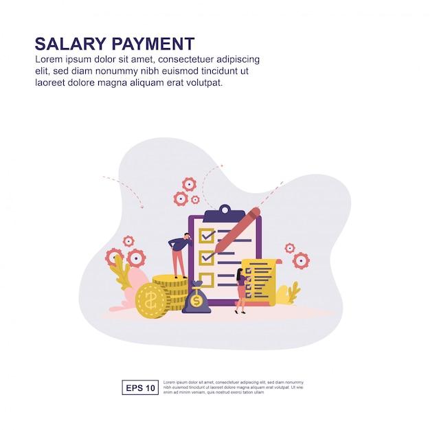 Concetto di pagamento salariale Vettore Premium